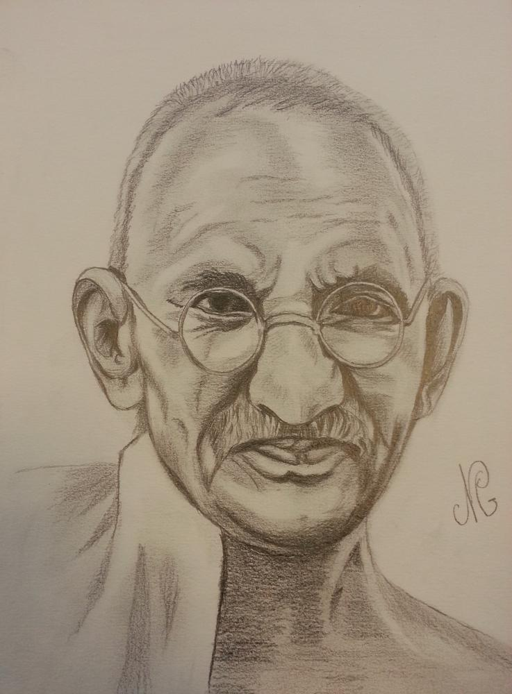 Mahatma Gandhi by Nicky08